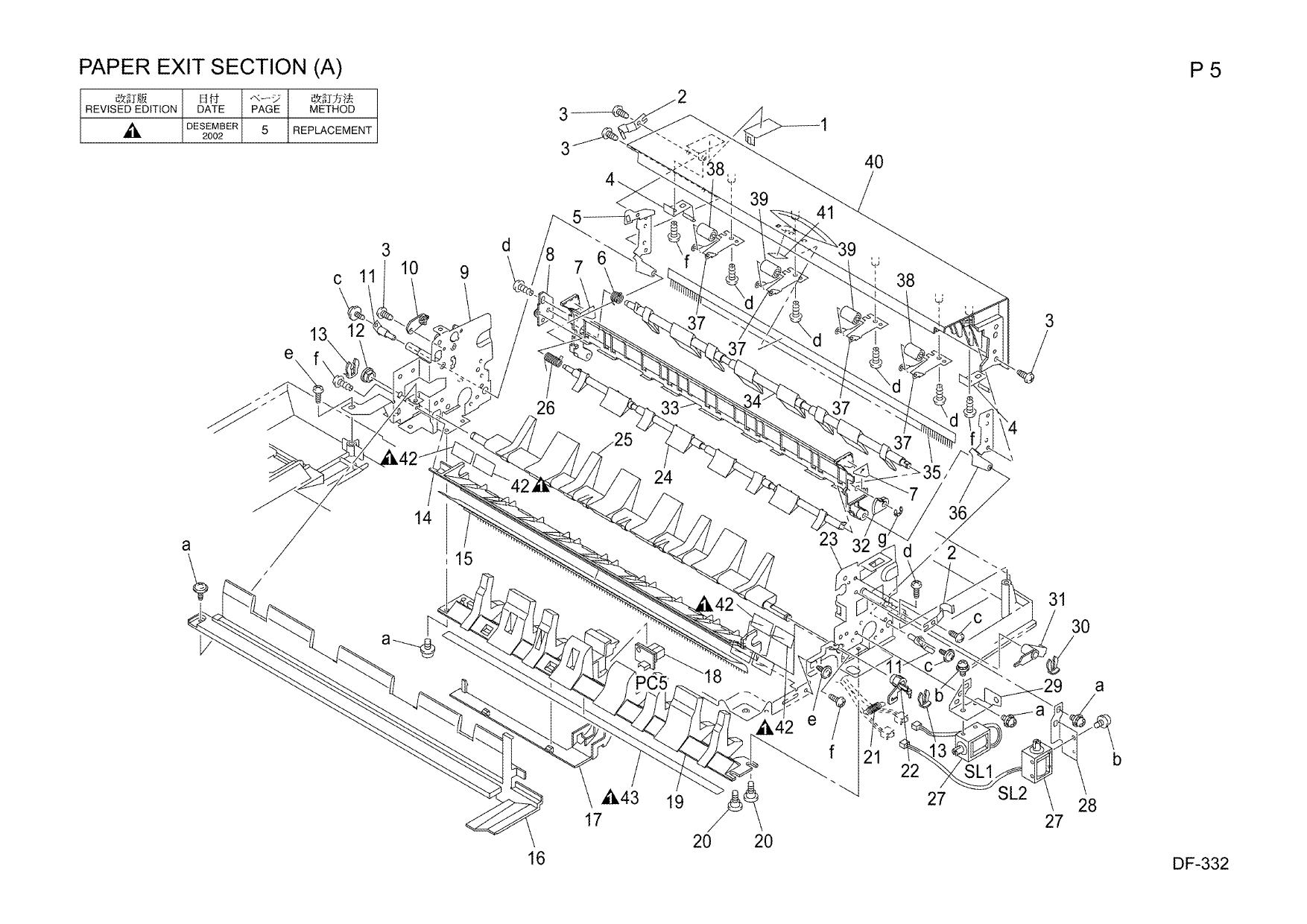 Konica-Minolta Options DF-332 Parts Manual